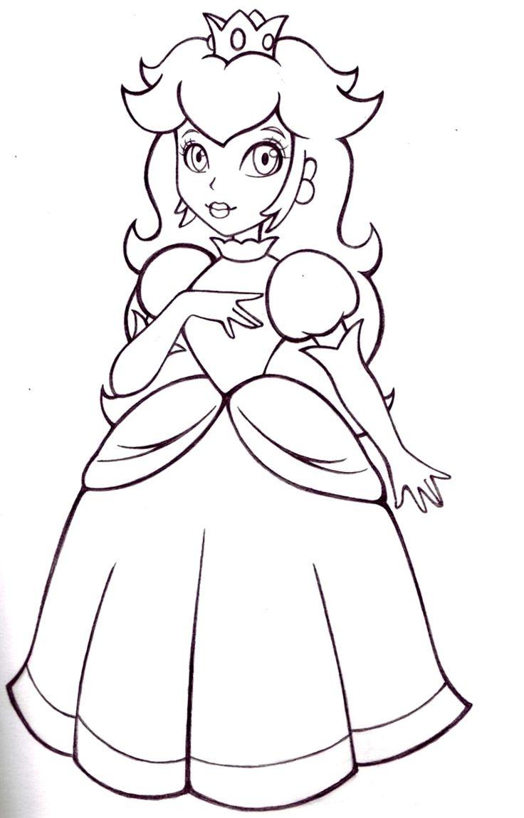 Coloriage Princesse Peach  colorier Dessin  imprimer