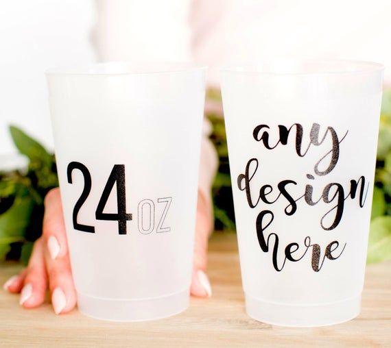 Plastic Party Cups Wedding Favor