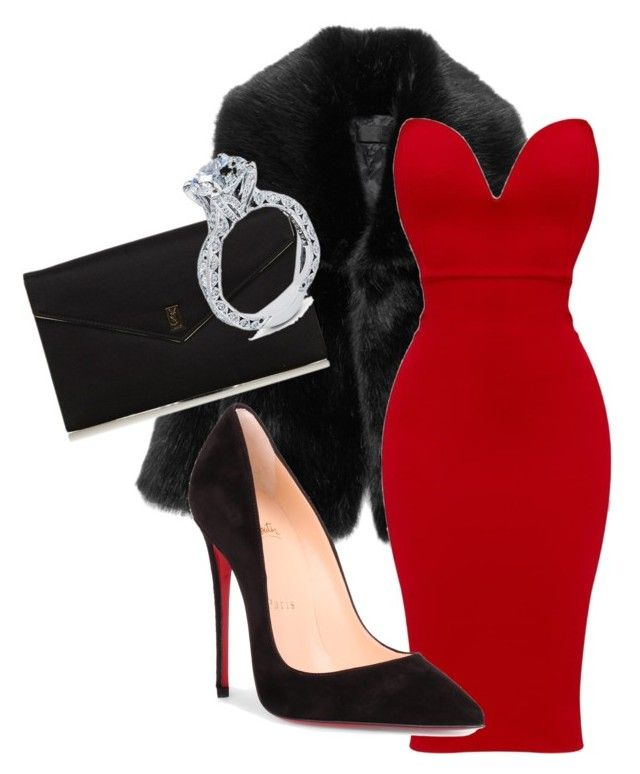 """""""Untitled #72"""" by viverosadrianaa on Polyvore featuring Christian Louboutin, Yves Saint Laurent and Tacori"""