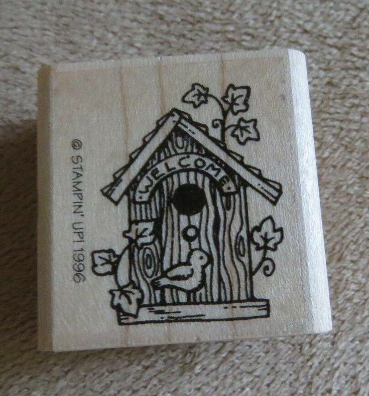 Willkommen Sommer Vogelhaus Natur zu Hause Hütte Nest Pflanze Efeu Stempel Stampin Up …   – For Sale (Crafts & rubber stamps)