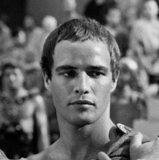 """Brando as Marc Anthony in """"Julius Caesar"""", 1953"""