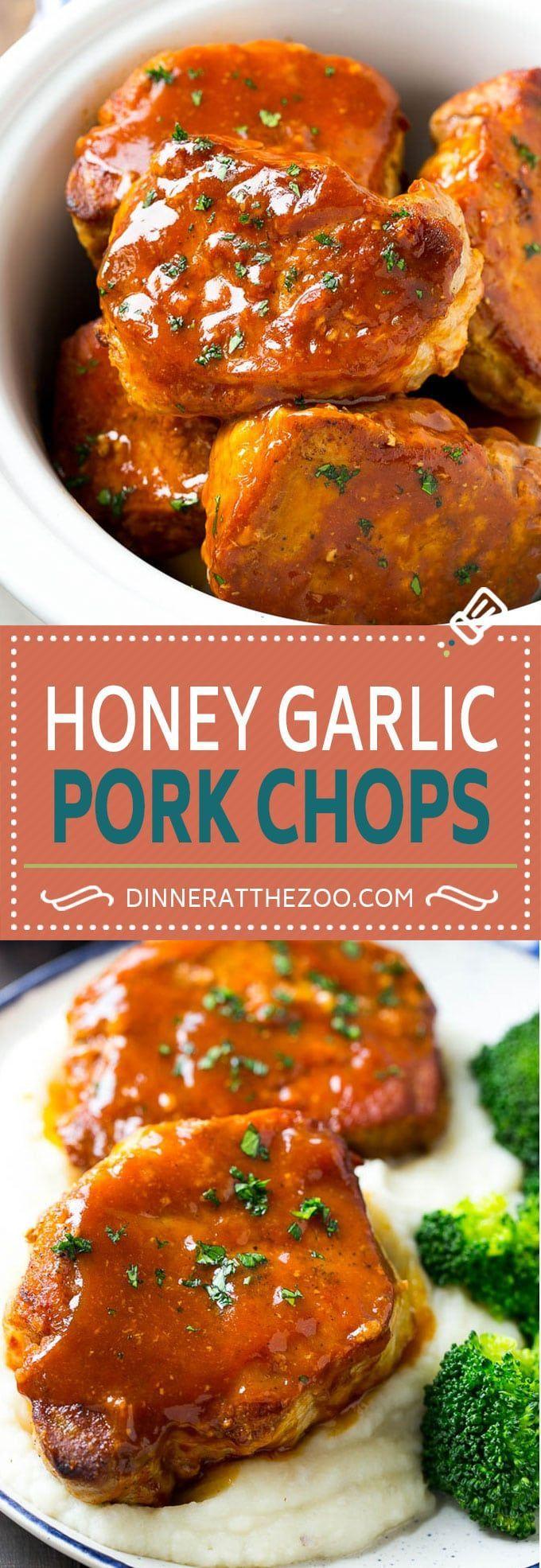 Honey Garlic Pork Chops Recipe | Slow Cooker Pork Chops | Crock Pot Pork Chops | Boneless Pork Chops Recipe