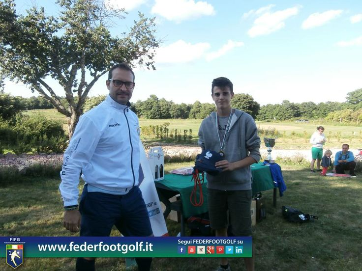 Francesco L'Abbate vincitore per la cat. Under 18 al 2° Major di FootGolf ad Acquapendente (VT).