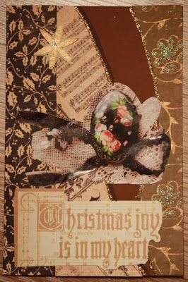 Recycled material Christmas card.