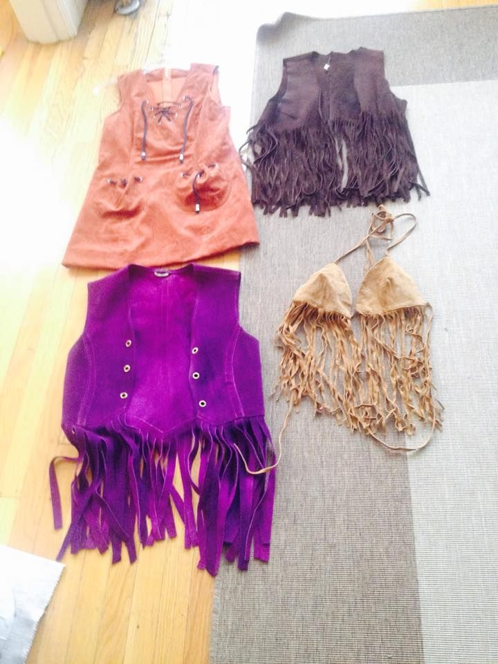 native American tribal look, tops weiscoats and dress and I have all sort of suede and leather hot patns to go with it