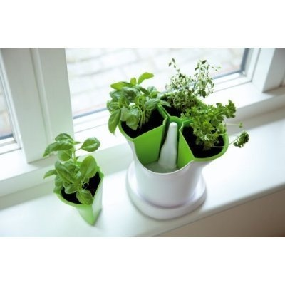 Lovely Indoor Edible Gardens: Herb Planters