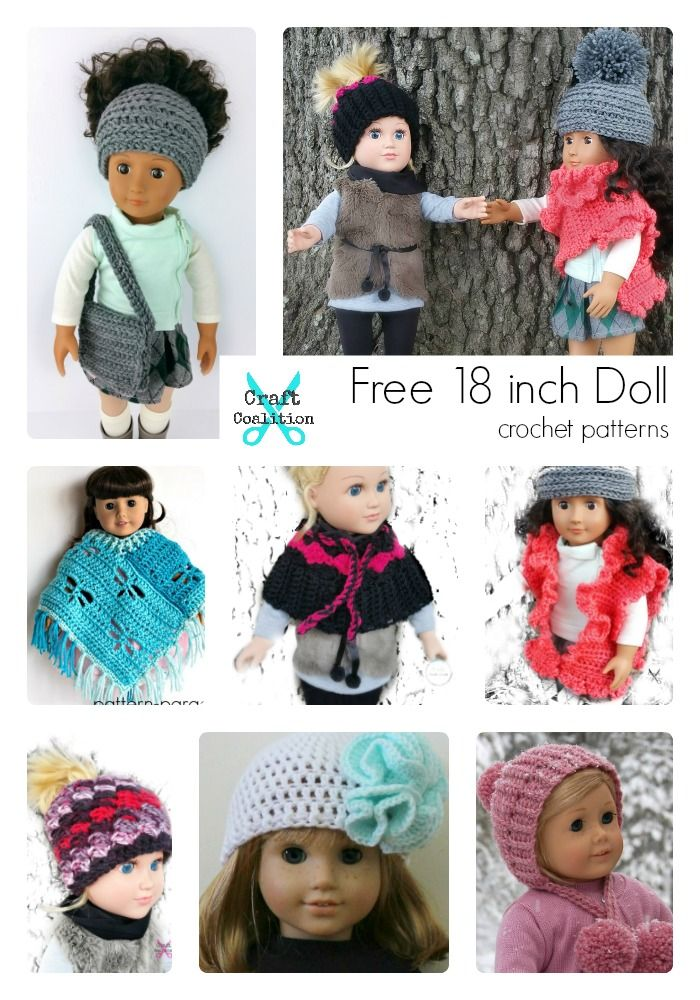 Beautiful FREE 18 Inch Doll Crochet Patterns on CraftCoalition.com http://www.craftcoalition.com/beautiful-free-18-inch-doll-crochet-patterns/