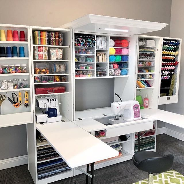 You Never Know What You Have Until You Clean Your Craft Room Theoriginalscrapbox Sewing Room Design Room Storage Diy Sewing Room Storage