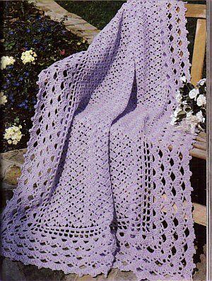 ..pretty lilac throw #crochetafghans