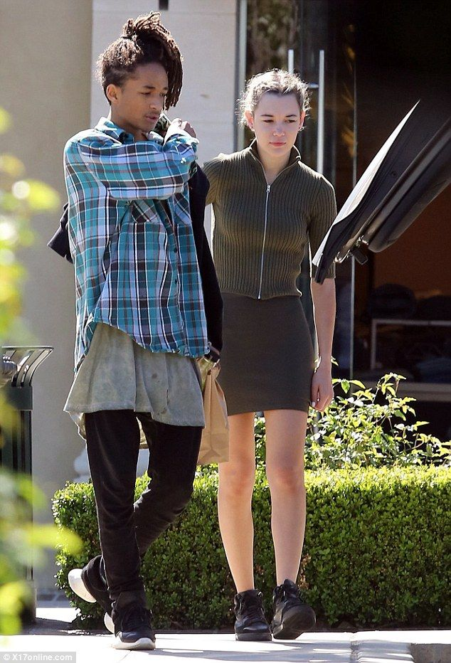 Breakfast date: Jaden Smith and girlfriend Sarah Snyder kept close as they stepped out on ...