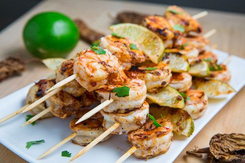 Shake things up by grilling healthy shrimp kebabs. | 23 Easy Tricks For A Healthier Barbecue