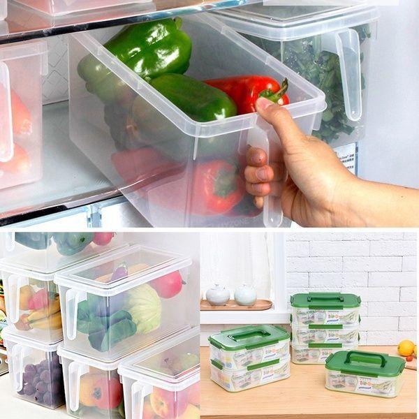 Transparente Frischhaltedose mit Siegeldeckel aus Kunststoff