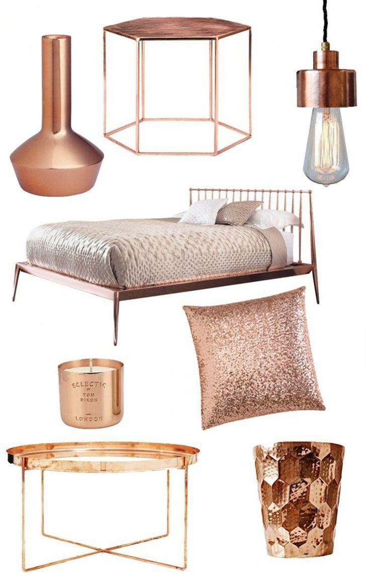 wohnaccessoires design in der aktuellen kupferfarbe rose gold pinterest kupferfarbe. Black Bedroom Furniture Sets. Home Design Ideas