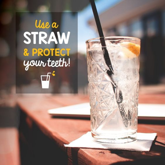 Use Straw and protect your teeth! Protect your teeth by using a straw to prevent tooth discoloration and cavities!  #DentalTips #DentalCare