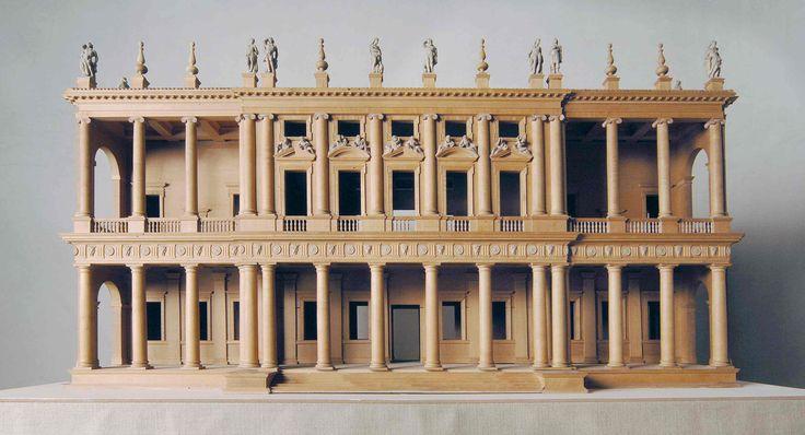 Wooden architectural model of Palladio's palazzo Chiericati, Vicenza. (Palladio Museum, Contra' Porti 11, 36100 Vicenza, Italy)