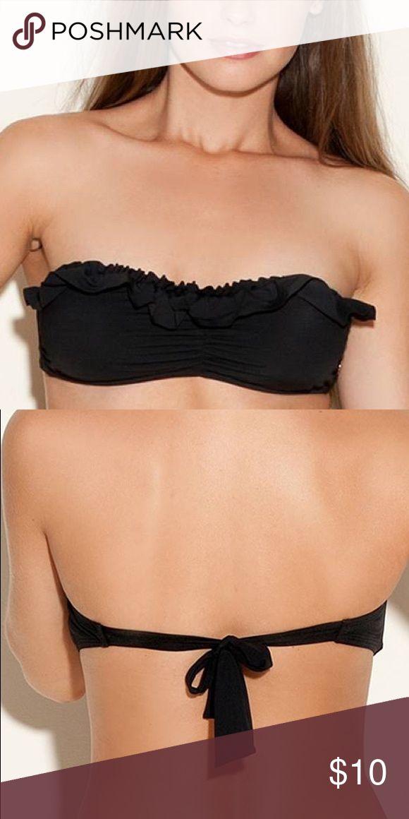Guess Black Ruffle Bikini Top Strapless guess brand tube top - bikini top. Guess Swim Bikinis