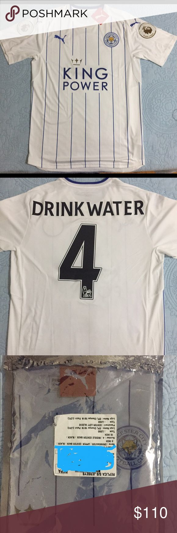 Brand new. Leicester City third kit. Jersey comes with tag and name: Drinkwater number: 4. Puma Shirts