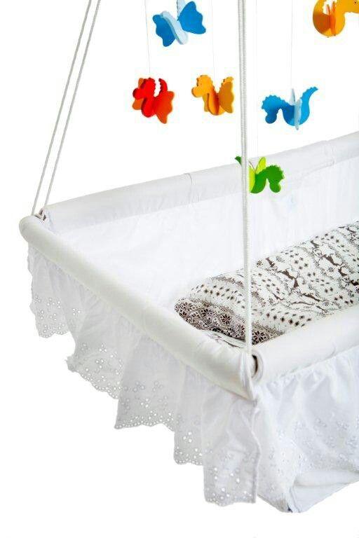 FlexiCrib, Norwegian Design, hanging baby bed expanding to children cot