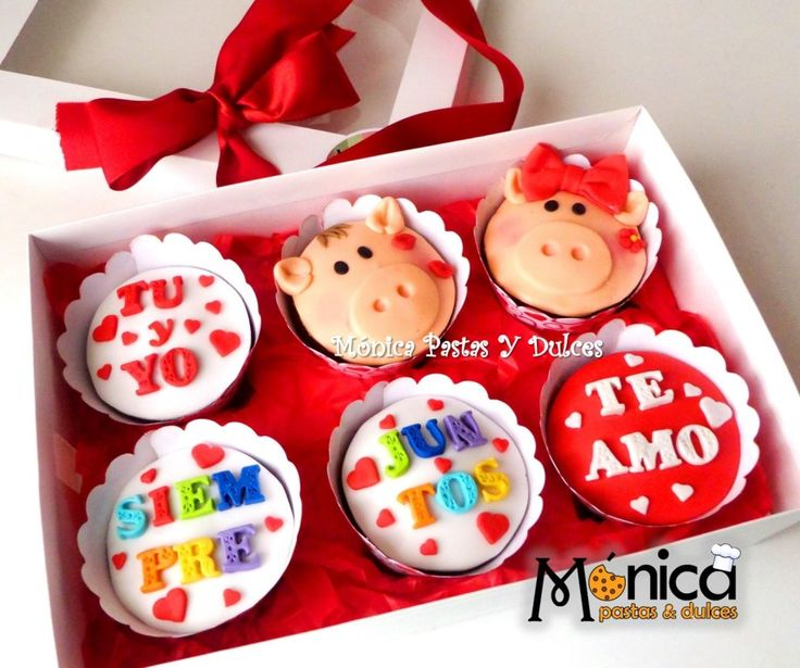 cupcakes de chanchitos, con detalles unicos en ella, elaborado por MONICA PASTAS Y DULCES