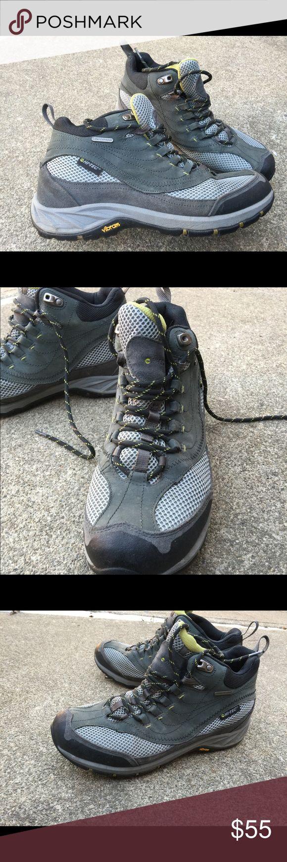 Men's Hi-Tec Gray & Black Hiking Boots 10.5M EUC Men's Hi-Tec Gray & Black Hiking Boots 10.5M EUC. Leather & Waterproof. Worn once! Hi-Tec Shoes Boots