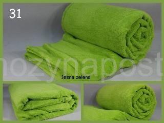 Měkká deka v zelené barvě
