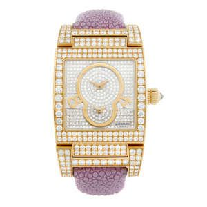 LOT:86 | DE GRISOGONO - a lady's 18ct rose gold Instrumento Uno wrist watch.