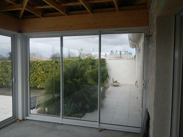 1000 id es propos de baie vitr e 3 vantaux sur for Porte vitree coulissante exterieure