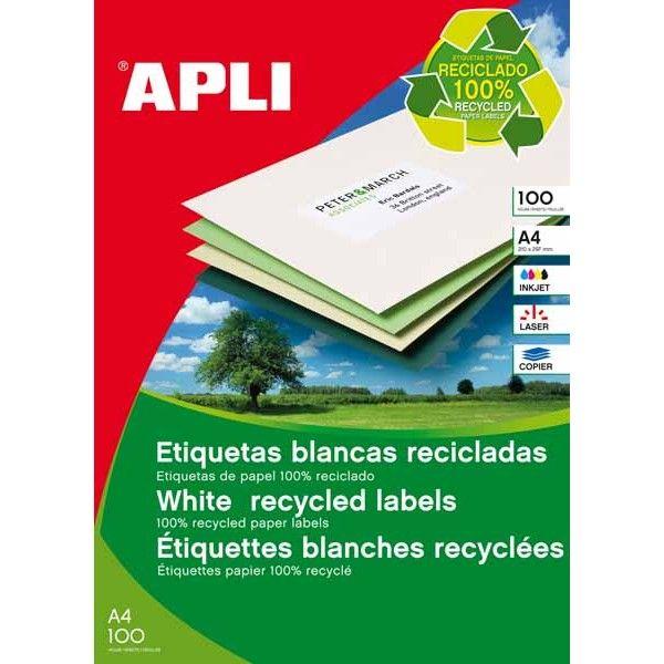 Comprar Etiquetas blancas 100% recicladas 210 x 297 Apli 12070 #business #etiquetas #blancas #material #empresa #comercio #comercial #adhesivo #recicladas
