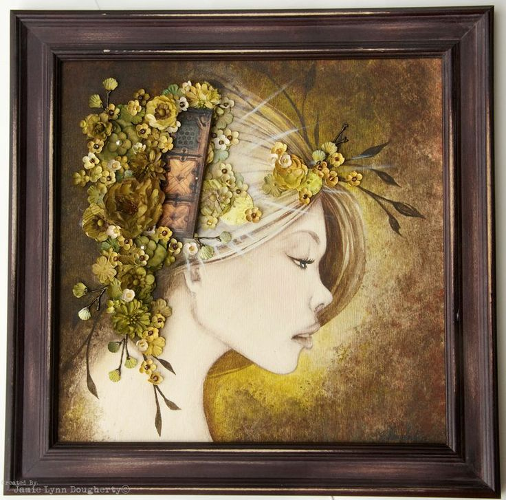 By Jamie DoughertyJamie Dougherty, Altered Projects, Art Journals, Mixed Media Canvas, Crafts Inspiration, Altered Art, Mixed Media Art, Flower Hair, Dougherty Prima