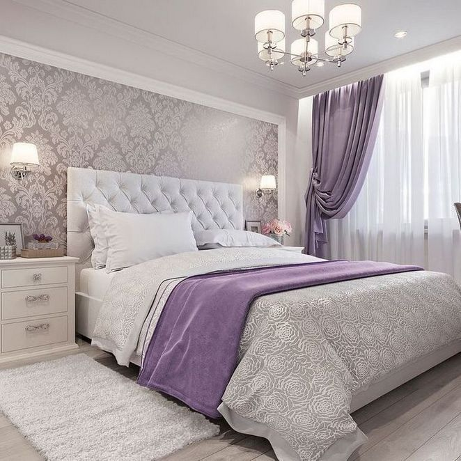 33 The Nuiances Of Cozy White And Purple Bedroom Decor