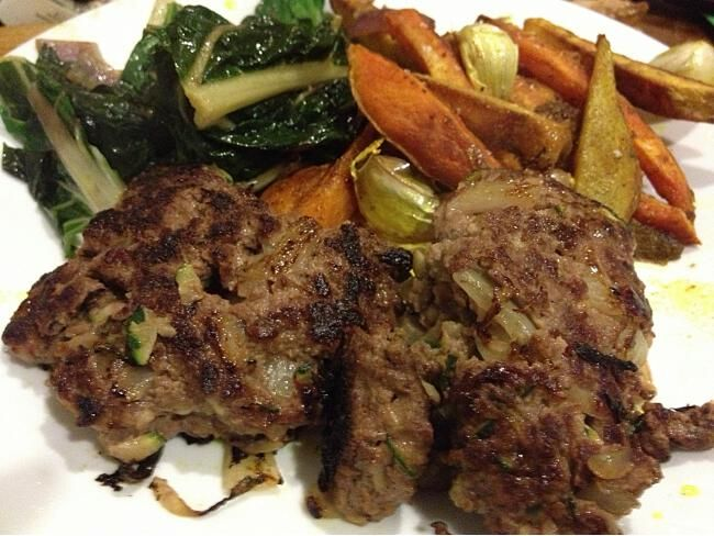 Kangaroo Burgers -- Has egg but is otherwise dairy-free. Use flour option of your choice. [gluten-free, nut-free]