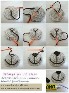 A great and simple How To on sowing a snout for all of your amigurumi