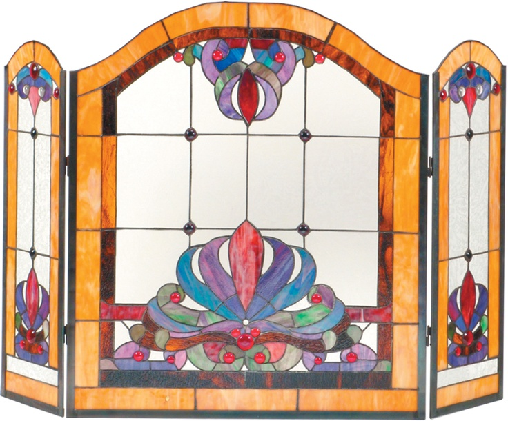 36 best Stain Glass Fireplace Screens images on Pinterest ...