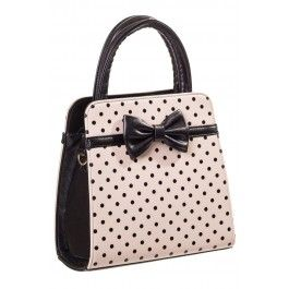 Sac à Main Rétro Pin-Up 50's Rockabilly Pois Noeud
