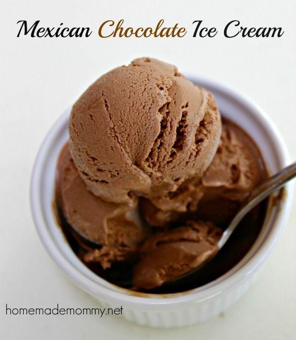 Homemade Mexican Chocolate Ice Cream   www.homemademommy.net #recipe