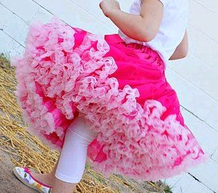 This simple sewing project for kids teaches you how to make a tiered, tulle skirt for your daughter to wear. She'll feel like a princess or a ballerina in this poofy, fluffy skirt.