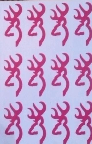 99 Pink Browning Logo Tanning Bed Stickers * These make A Great Stocking Stuffer
