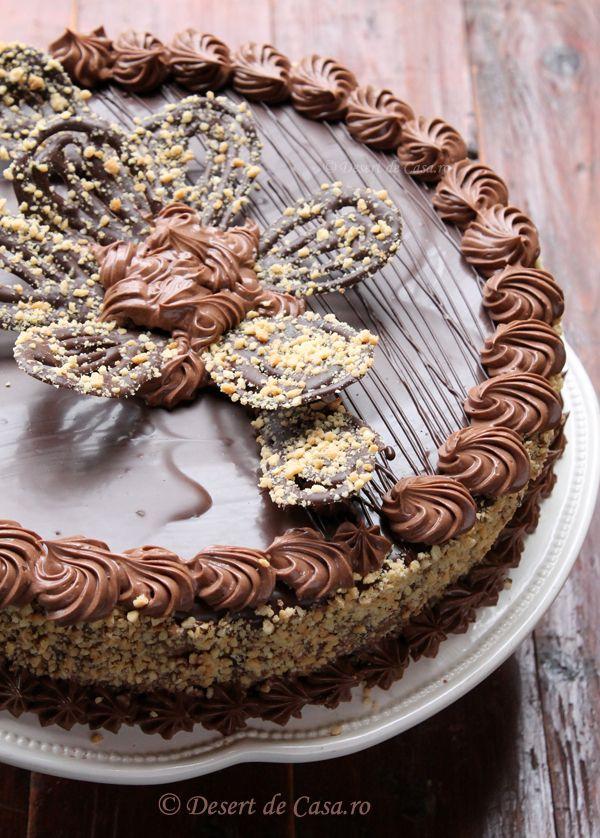 Tort cu alune si ciocolata - Desert De Casa - Mara Popa