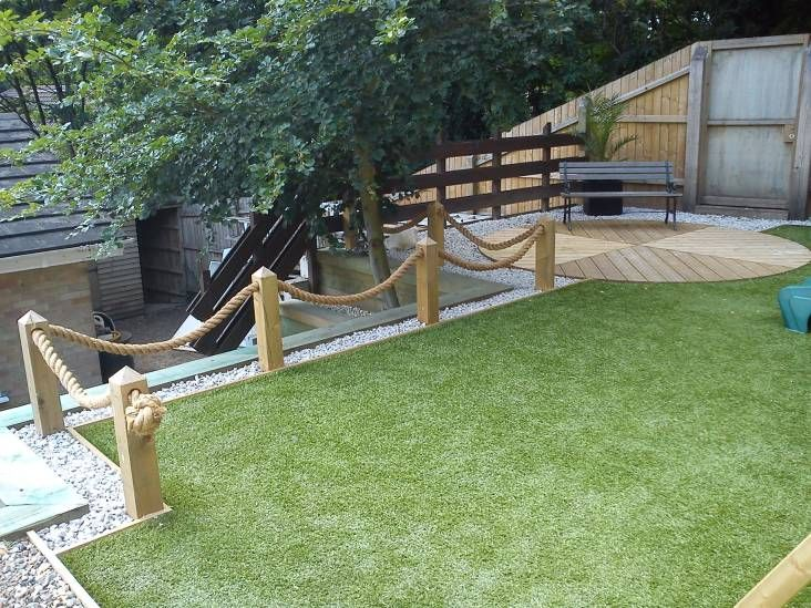 manila rope garden decking from
