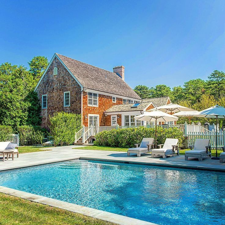 """92 Likes, 1 Comments - Saunders & Associates (@hamptonsrealestate) on Instagram: """"Down a long private drive lined by breezy white pines and behind a gated entry stands a stately…"""""""
