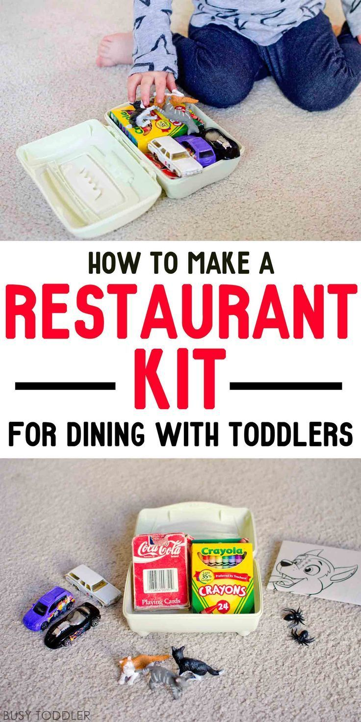 Restaurant Kit for Toddlers - Make a quick restaurant kit to occupy toddlers and preschoolers when dining out; a quick and easy quiet box for restaurants.