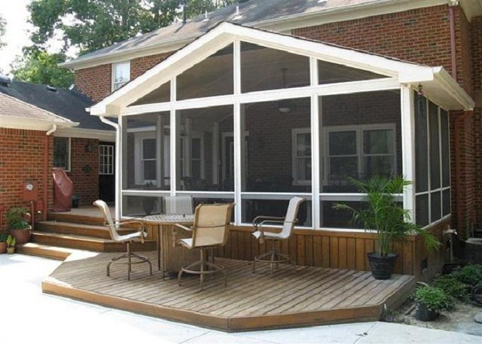 17 best images about decks on pinterest new home for Front porch construction cost