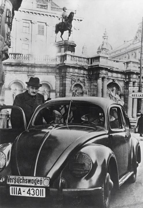 Ferdinand Porsche...invented the TYP-32, prototype rear engine prelude to the beetle.