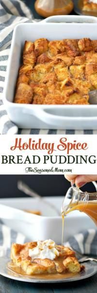 Holiday Spice Bread Pudding on MyRecipeMagic.com Holiday Spice Bread Pudding is an easy dessert that's ready with only 10 minutes of prep, and it will fill your house with the cozy aroma of the season!