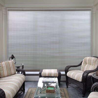 Symple Stuff Cord Free Semi Sheer Outdoor Roll Up Shade In