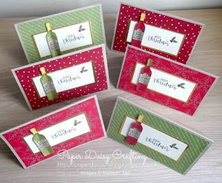 Christmas cards made with Half Full from Stampin' Up!