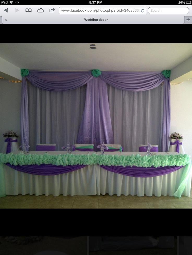 Wedding head table & backdrop...