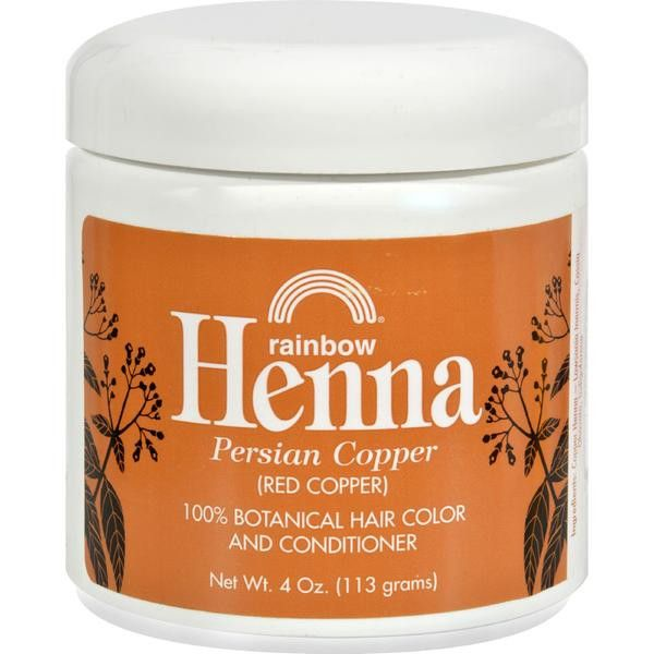 Rainbow Henna 100 % Botanical Hair Color and Conditioner - Persian Copper Red Copper - 4 oz