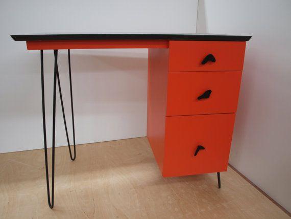 Love Hairpin Legs · Refurbished DeskMid Century FurnitureHairpin ...