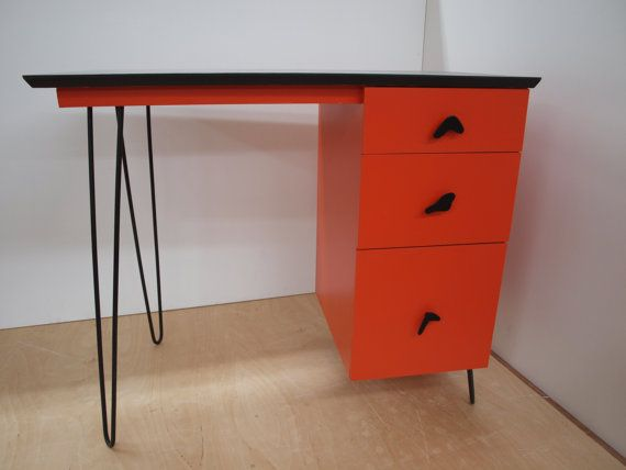 Ooak Mid Century Refurbished Desk PICK UP by ELEMENTSofIRONnWOOD, $265.00